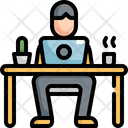 Working Man Desk Icon