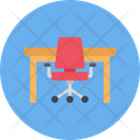 Table Desk Chair Icon
