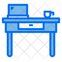 Working Table Furniture Interior Icon