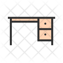 Table Working Furniture Icon
