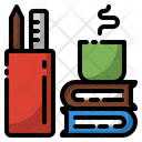 Book Coffee Cup Icon