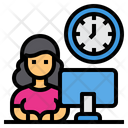 Working Time Time Management Office Icon