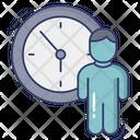 Man Stick Man Time Icon