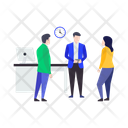 Working Together Teamwork Collaboration Icon