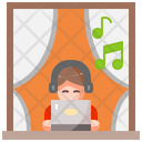 Home Laptop Music Icon