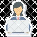 Working Employee Business Icon