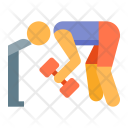 Workout Exercise Fitness Icon