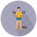 Workout Fitness Exercise Icon