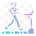 Workout Fitness Treadmill Icon