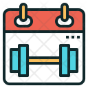 Workout Schedule Calendar Icon