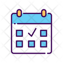 Workout Daily Schedule Calendar Icon