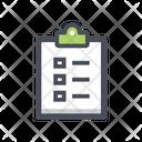 Workout List Clipboard List Icon
