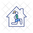 Fitness Home Exercise Icon