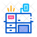 Workplace Desk Polygraphy Icon