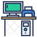 Workplace Computer Desk Icon