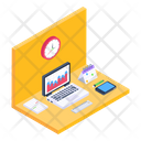 Office Room Place Of Work Workspace Icon