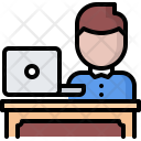 Workplace Employee Laptop Icon