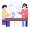 Office Discussion Workplace Discussion Communication Icon