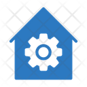 Workshop Gear Construction Icon