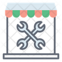 Workshop Garage Repair Shop Icon