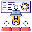Lecture Orator Speech Icon
