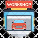 Workshop Garage Car Service Icon