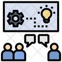 Brainstorming Workshop Teamwork Icon