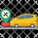 Workshop Location Car Location Vehicle Navigation Icon