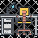 Workspace Computer Desk Icon