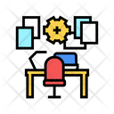 Workplace Organisation Color Icon