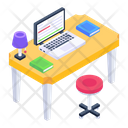 Place Of Work Workspace Working Area Icon