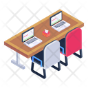 Working Area Place Of Work Workstation Icon