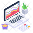 Online Business Business Chart Online Analytics Icon