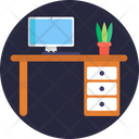 Workstation Content Writing Online Journals Icon