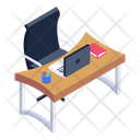 Place Of Work Office Desk Workstation Icon