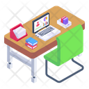 Workstation Place Of Work Working Area Icon