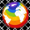 World Earth Global Icon