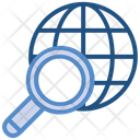 Data Analytics World Magnifier Icon