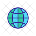 World Meridian Parallel Icon