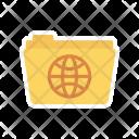 World Globe Folder Icon