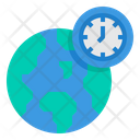 World Time Zone Clock Icon