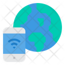 World Internet Of Things Smartphone Icon