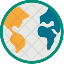 World Map Globe Icon