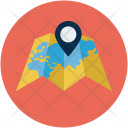 World Pin Map Icon