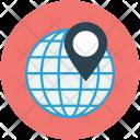 World Pin Pointer Icon