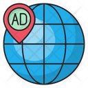 Ads Location Global Icon
