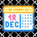 Calendar Date Sick Icon