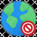 World Banned World Global Icon