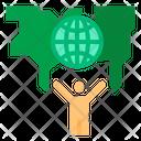 Global Businessman Global Internal Businessman Icon