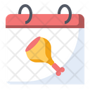 Chicken Food Calendar Icon